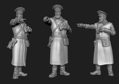 Limanova soldier Statue, 3d, Model, Sculpture, Models, Modeling, Mockup