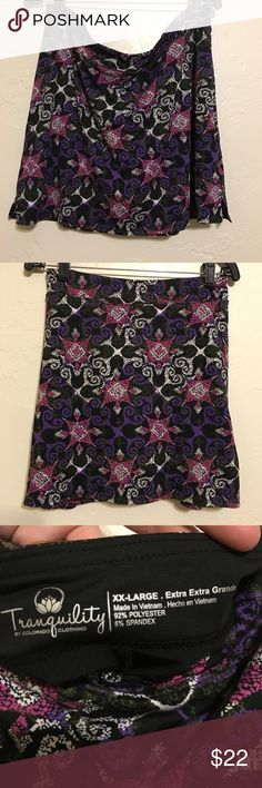 New TRANQUILITY COLORADO CLOTHING FLORAL STAMP SKORT Size 2XL EXTRA EXTRA LARGE