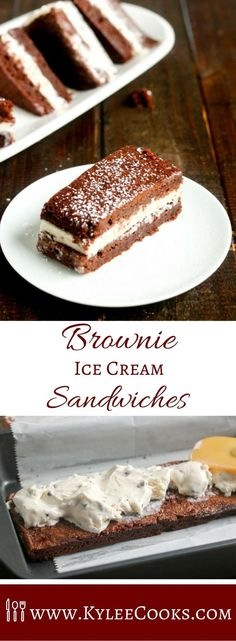 These delicious little Brownie Ice Cream Sandwiches are JUST the thing, with chewy brownies for the outside, and a rich and creamy gelato for the center. AD