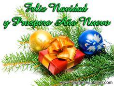 tarjeta de feliz navidad y prospero año nuevo 2015