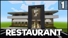 In part 2 for this Minecraft tutorial on how to build a restaurant, I will be showing you how to do the interior layout and furnishings, which then completes. Villa Minecraft, Minecraft Restaurant, Minecraft Modern City, Minecraft Shops, Minecraft City Buildings, Minecraft Mansion, Easy Minecraft Houses, Minecraft Castle, Minecraft Room