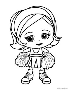 cheerleader color pages printables | Cheerleading Coloring Pages for Kids cheer – Kids Cute Coloring ...