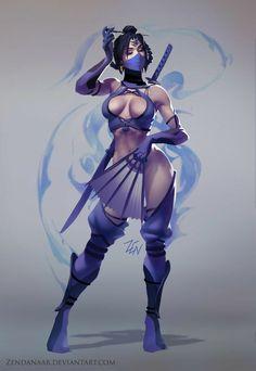Mortal Kombat Kitana By Zendanaar Kitana Mortal Kombat, Mortal Kombat Art, Anime Sexy, Fantasy Women, Fantasy Girl, Female Character Design, Character Art, Fantasy Characters, Female Characters