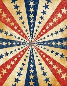 An Americana Style Starburst With A Grunge Effect: Red Bedspread, Art Du Cirque, Yankee Doodle Dandy, Let Freedom Ring, Blue Color Schemes, Star Spangled, Old Glory, Of Wallpaper, Red White Blue