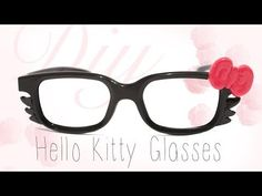 DIY Hello Kitty Glasses Polymer Clay Tutorial