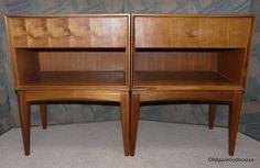 Pair Of Retro Teak Bedside Cabinets   eBay