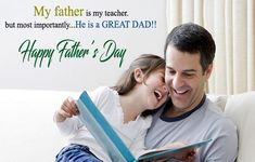 Happy Fathers Day Wishes From Daughter _ Fathers Day Messages from Daughter - New Happy Quotes Happy Fathers Day Status, Best Fathers Day Quotes, Fathers Day Messages, Happy Fathers Day Images, Fathers Day Wishes, Father Quotes, Daughter Quotes, I Love My Father, Good Good Father