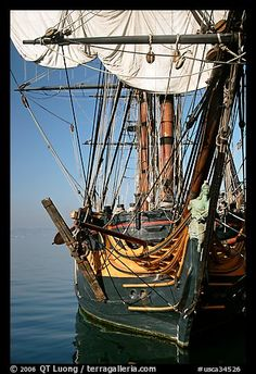 HMS Surprise, a replica of a 18th century Royal Navy frigate, Maritime Museum. San Diego, California, USA