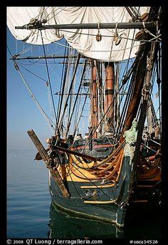 HMS Surprise, a replica of a 18th century Royal Navy frigate, Maritime Museum. San Diego, California, USA