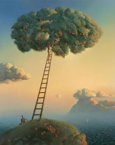 Title : Heavenly Fruits. I'm a fan of the works of Vladimir Kush. You will see quite a bit of his work on this board.