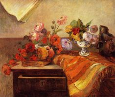Pots and Boquets, 1886, Paul Gauguin oil on canvas