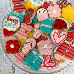 Happy Summer, Sugar, Cookies, Desserts, Food, Biscuits, Meal, Deserts, Essen