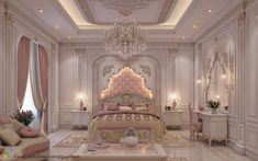 101 Pink Bedrooms With Images, Tips And Accessories To Help You Decorate Yours Rich Girl Bedroom, Fancy Bedroom, Blush Bedroom, Modern Bedroom, Bedroom Decor, Contemporary Bedroom, Bedroom Ideas, Luxury Bedroom Design, Luxury Rooms