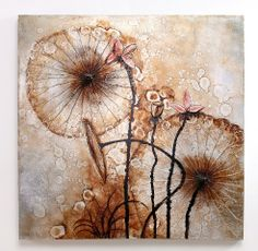 Meditation with Lotus - Abstract oil painting, wall art for modern home decoration by Nova Deko.