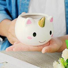 buy Unicorn Mug Creative Ceramic Coffee tea Cup Cute Cartoon Unicorn Mugs Novelty gifts Porcelain milk Cup for office - wide free shpping Unicorn Cups, Cute Unicorn, Happy Unicorn, Rainbow Unicorn, Unicorn Horns, Hand Painted Ceramics, Porcelain Ceramics, Ceramic Coffee Cups, Coffee Mugs
