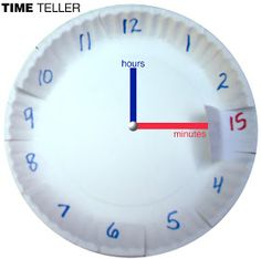 Time Teller - Lift and Peek - How To Tell Time/ Clock Learning Tool #homeschooling