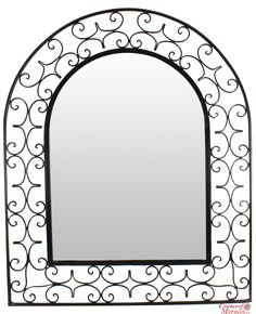 Moroccan mirror wood bab door mirror in the zouak for Miroir 110 x 90