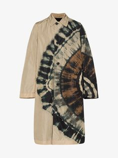 Shop Dries Van Noten Tie-dye Trench Coat In Neutrals from stores. Multicoloured Tie-dye trench coat from Dries Van Noten. Tie Dye Fashion, Diy Fashion, Fashion Outfits, Fashion Design, Neue Outfits, Handmade Clothes, Aesthetic Clothes, Cool Outfits, Menswear