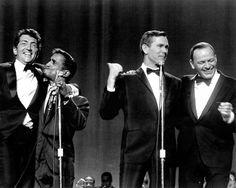 Dean Martin, Sammy Davis Jr., Johnny Carson, Frank Sinatra