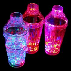 LED Light up Flashing Cocktail Drink Shaker 19oz.