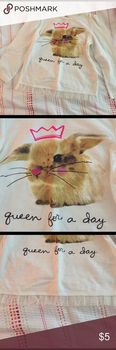 Queen for the day bunny shirt Adorable eastery bunny shirt with ruffle bottom - Easter shirt ! okie dokie Shirts & Tops Tees - Long Sleeve