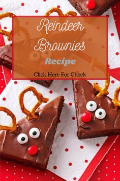 My son, Jeremy, is 36 but acts as if he's 5 when he sees these brownies—I've been making them for more than 30 years! My daughter, Jayme, and my four grandchildren love them, too. If you're short on time, a boxed mix works just fine. ##brownies #browniesrecipe #healthyfood #healthydiet #foodrecipe #healthyrecipes #reindeer Real Food Recipes, Healthy Recipes, Brownie Recipes, Eat Healthy, 30 Years, Grandchildren, Gingerbread Cookies, Reindeer, A Food