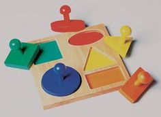 Geo Puzzle Board: Can improve visual perception by placing the corresponding shape into its correct slot.