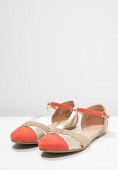 mint&berry Riemchenballerina - red/light gold/ beige - Zalando.de