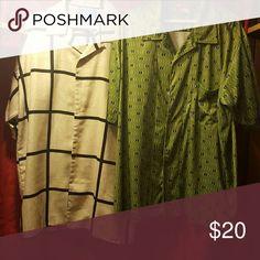 Men's shirts 100 % polyester canopy(tan) union bay (grn) Shirts Casual Button Down Shirts