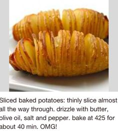 Sliced baked Potatoes