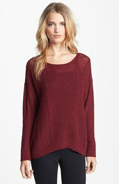 I have been dying for a burgundy oversized sweater!!!  Eileen Fisher Alpaca & Merino Sweater available at #Nordstrom #AnniversarySale