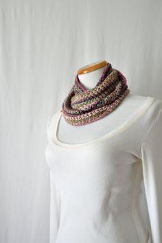 Silk Wool Handmade Cowl / Scarf / Infinity by HanksAndNeedles