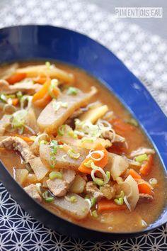 Tonjiru,soupe au porc et au miso- Japanese pork & miso soup