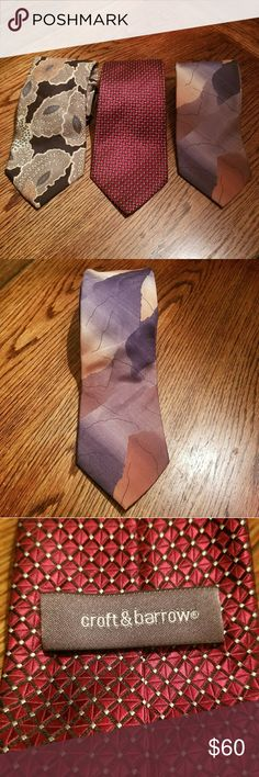 (3) ties Christian Dior, Croft & Barrow and Italia Bundle of 3 Silk ties 1. Christian Dior  2. Crofton & Barrow  3. Italian all silk handmade  ▪25% off 🛍 Bundle 4 or more items and get 25% off automatically with my seller discount price  **B2G1 NOT applicable***   ▪$4,99 SHIPPING 🚛 Bundle over $25 and I'll send you an offer with $4,99 Shipping cost for you  ▪FREE SHIPPING 🚛 Bundle over $50 and I'll send you an offer with Free Shipping cost for you. Christian Dior Accessories Ties