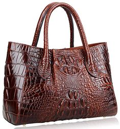 Shiny Patent Faux Leather Handbags Barrel Top Handle Satchel Bag Shoulder Bag for Women Fashion Handbags, Purses And Handbags, Beautiful Bags, Tote Bag, Michael Kors, Shoes, High Class, Vienna, Crocodile