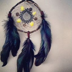 Willow Dream Catcher with Yellow Jade and by GratefullyDreaming
