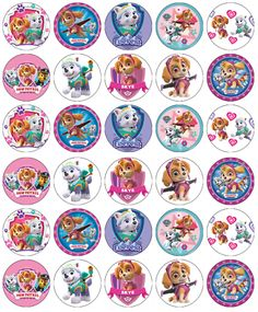 They have a shelf life of 12 months, if kept in the bag they arrived in. Paw Patrol Cupcake Toppers, Paw Patrol Cupcakes, Skye Paw Patrol Cake, Paw Patrol Cups, Everest Paw Patrol, Paw Patrol Birthday Girl, Girl Paw Patrol Party, Imprimibles Paw Patrol, Cumple Paw Patrol