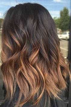 Hair Color 2017/ 2018      Dark brown hair is beating all the charts these days. And there is no wonder why, as all these hues of brown are so versatile that it is difficult not to fall in love with them. Besides, highlights for dark brown hair are in no case lagging behind. The choice is... #Color