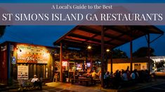 After visiting St. Simons for yrs. Here is our locals guide to the best St Simons Island restaurants for casual dining, date night, pizza & breakfast! St Simons Island Restaurants, St Simons Island Georgia, Georgia Beaches, Good Pizza, Us Travel, Savannah Chat, The Best, Saints, Places To Visit