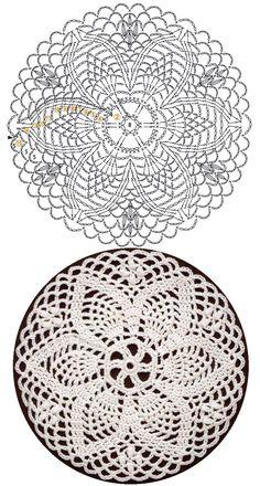 모티브도안100 / 코바늘 원형 모티브뜨기 Crochet Circle Pattern, Free Crochet Doily Patterns, Crochet Doily Diagram, Crochet Circles, Crochet Motifs, Crochet Squares, Thread Crochet, Crochet Dreamcatcher, Crochet Dollies