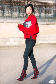 Nicole Warn   Paris Fashion Week Fashion Mode, Red Fashion, Winter Fashion,  Womens bf1e5913d96