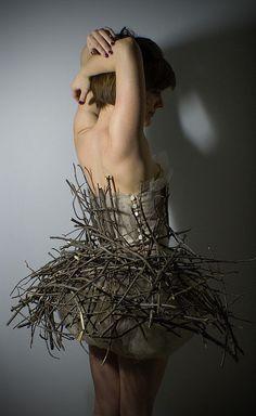 use of sticks - full body costume