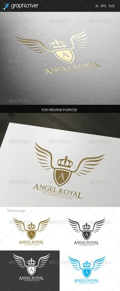 Angel Royal logo — Vector EPS #king #angel logo • Available here → https://graphicriver.net/item/angel-royal-logo/7352935?ref=pxcr