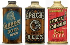 Adolf Grenke's breweriana and beer can collection will be sold Sept. It includes 400 beer taps and 500 antique and vintage beer cans. Beer Can Collection, Cigar Store Indian, Beer Packaging, Vintage Packaging, Craft Bier, Old Beer Cans, Beer Company, Beer Brands, Ale