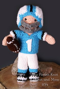 Ravelry: My First Babies Little Boy Blue Amigurumi Dress-up Doll Football Player Accessories pattern by The Perfect Knot - Michelle Kovach