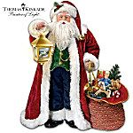Thomas Kinkade Traditional Musical Santa Doll. Nothing says Christmas like joyous family gatherings, favorite decorations, familiar music, and of course, jolly St. Nick. Now, you can cherish Santa Claus like never before with this musical Santa doll, available exclusively from The Ashton-Drake Galleries. At an impressive three feet tall, this festive doll is handcrafted of vinyl and features Santa dressed in a plush, velvety red coat with furry white trim and matching hat with a sprig of…
