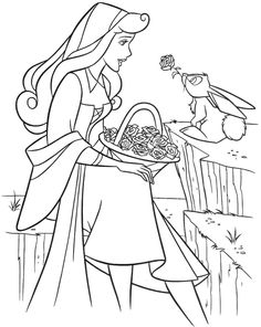 Coloring Pages Sleeping Beauty