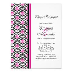 =>Sale on          	Damask Engagement Party Invitation Hot Pink           	Damask Engagement Party Invitation Hot Pink in each seller & make purchase online for cheap. Choose the best price and best promotion as you thing Secure Checkout you can trust Buy bestThis Deals          	Damask Engage...Cleck See More >>> http://www.zazzle.com/damask_engagement_party_invitation_hot_pink-161915623500241870?rf=238627982471231924&zbar=1&tc=terrest