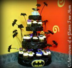 Free Batman Birthday Party Ideas | Dye-Free Batman Cake | Adventures of a Gluten Free Mom