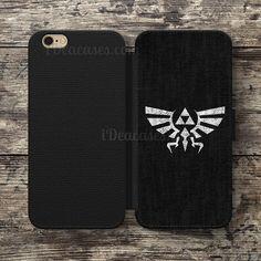 Triforce the legend of zelda Wallet Case For iPhone 6S Plus 5S SE 5C 4S case, Samsung Galaxy S3 S4 S5 S6 Edge S7 Edge Note 3 4 5 Cases